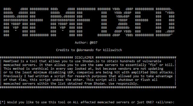 MEMFIXED DDOS MITIGATION TOOL