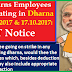 Govt warns Employees participating in Dharna on 19.09.2017 & 17.10.2017: DOPT Notice