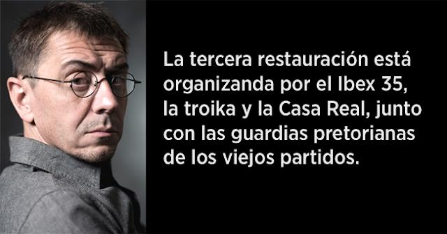Juan Carlos Monedero: ¡Es para dividiros, idiotas!