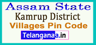 Kamrup District Pin Codes in Assam State