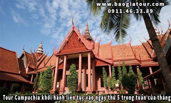 Tour Campuchia khởi hành liên tục vào ngày thứ 5 trong tuần của tháng 12
