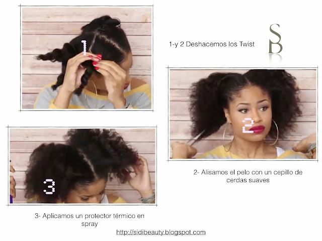 deshaciendo twist en pelo afro natural