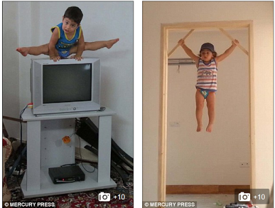 Arat Hosseini the 2 year old worlds youngest gymnast