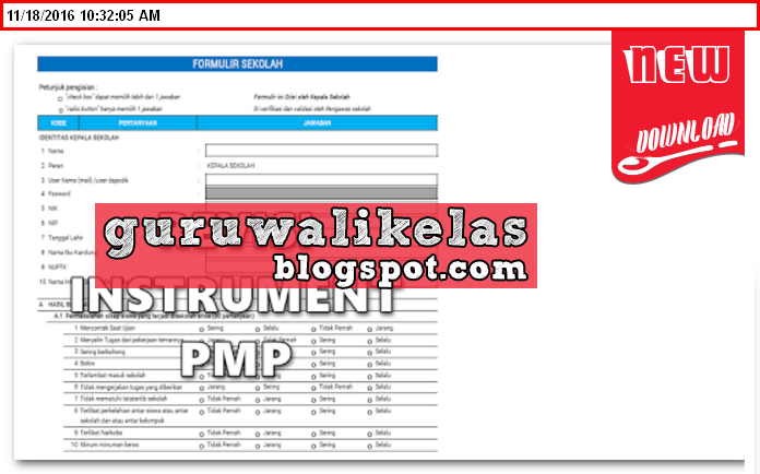 Download Instrumen Pmp Terbaru Hasil Revisi 2016 New