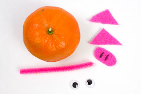 Adorable Mandarin Orange Pig Craft for Chinese New Year