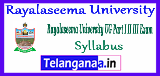 Rayalaseema University UG Time Table 2018  Download Here