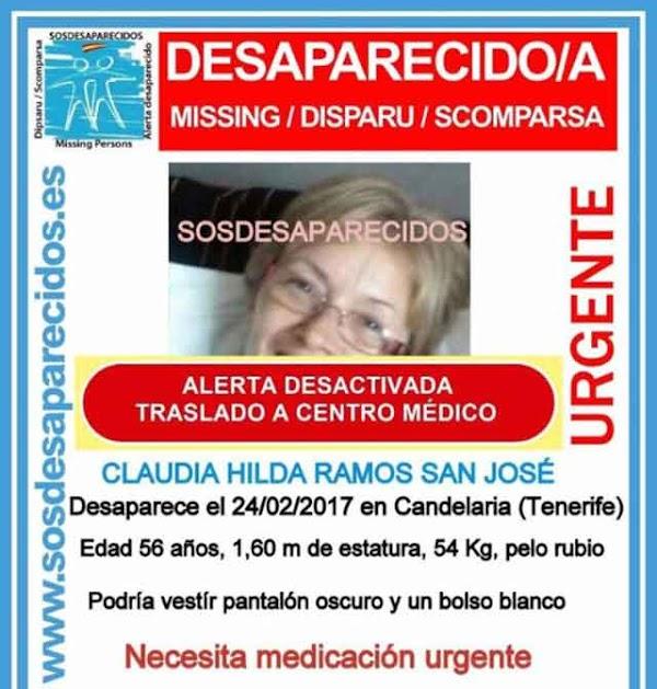 La mujer desaparecida en Tenerife es hallada y trasladada a centro médico