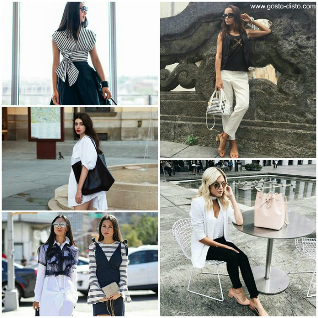 Primavera em preto e branco – looks chiques, práticos e lindos