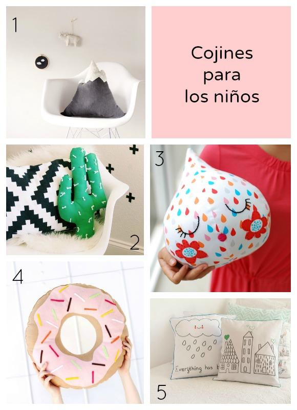 5 cojines irresistibles para la habitaci n de los ni os - Cojines para bebes ...