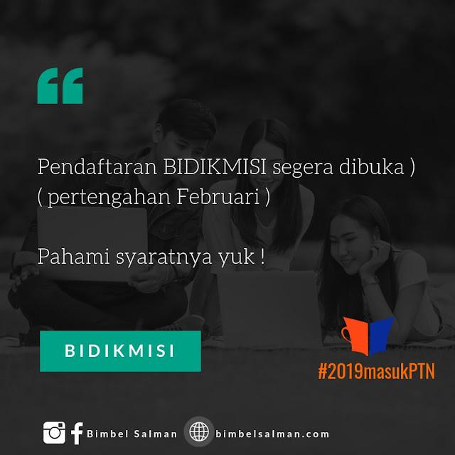 info bidikmisi 2019