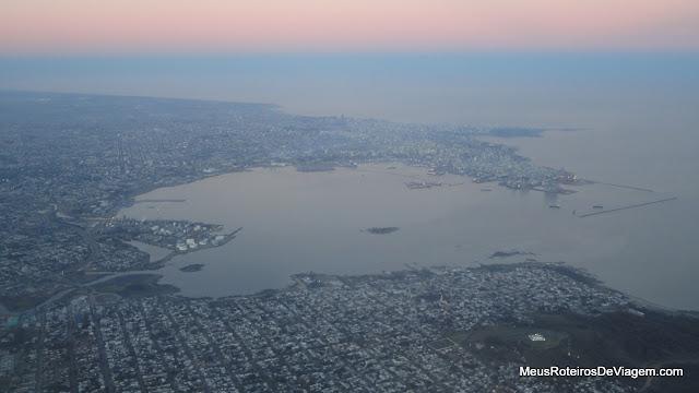 Vista aérea de Montevidéu - Uruguai