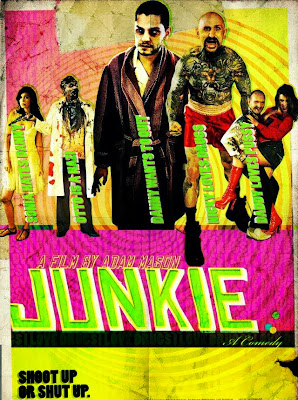 Poster Of Hollywood Film Junkie (2012) In 300MB Compressed Size PC Movie Free Download At worldfree4u.com