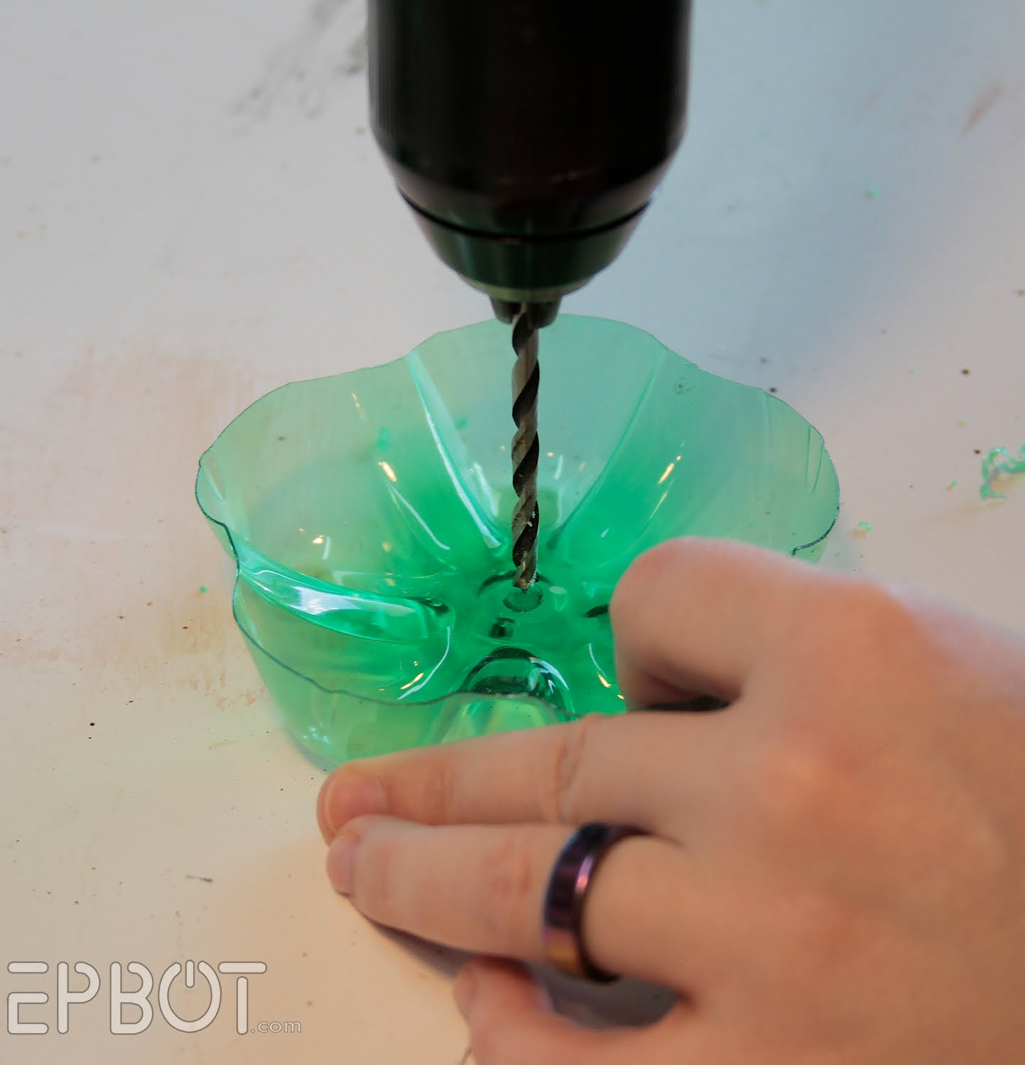 """Recycled Plastic Bottle: EPBOT: """"Dew"""" It Yourself Jewelry Stand"""