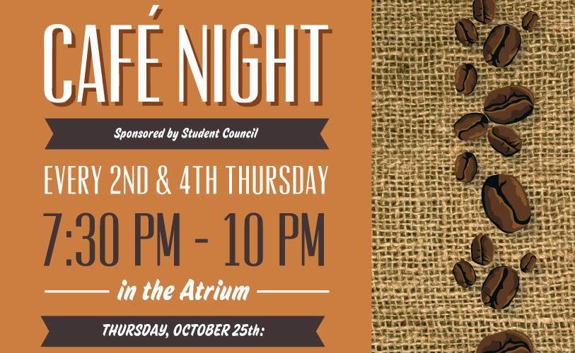 PCA&D Cafe Night Poster: Design by Lisa DeAngelo