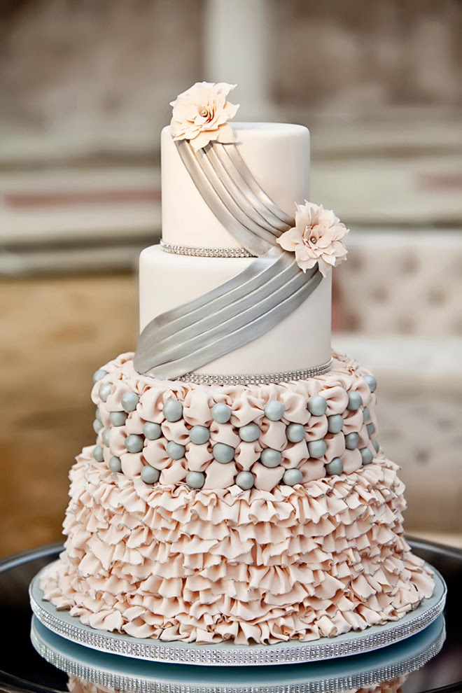 blush pink and grey wedding cake best wedding cakes of 2013 the wedding 12042