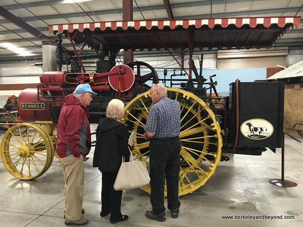 Russell steam traction engine at California Agriculture Museum in Woodland, California
