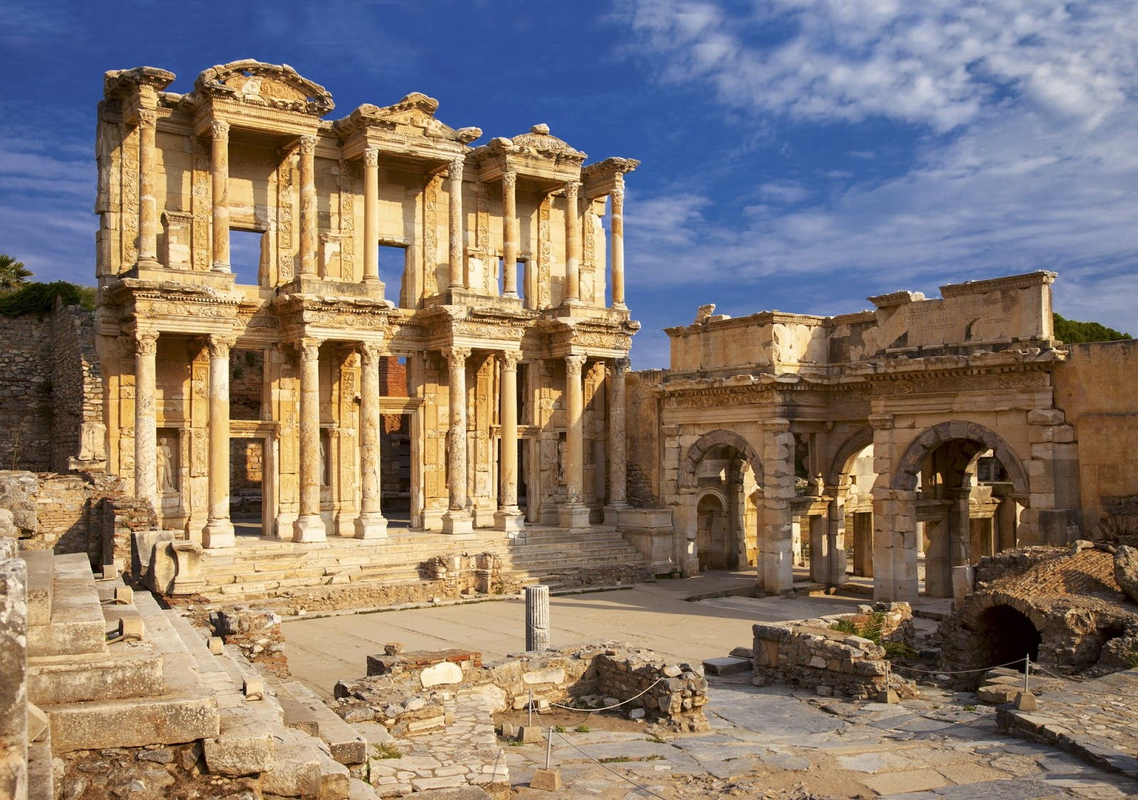 "Participating Underwriters - The ancient Library of Celsus in Ephesus, Anatolia, Turkey Troy, the setting of ""Troilus and Cressida"" is a legendary city, infamous for the Trojan War. It is located in what is now Turkey."