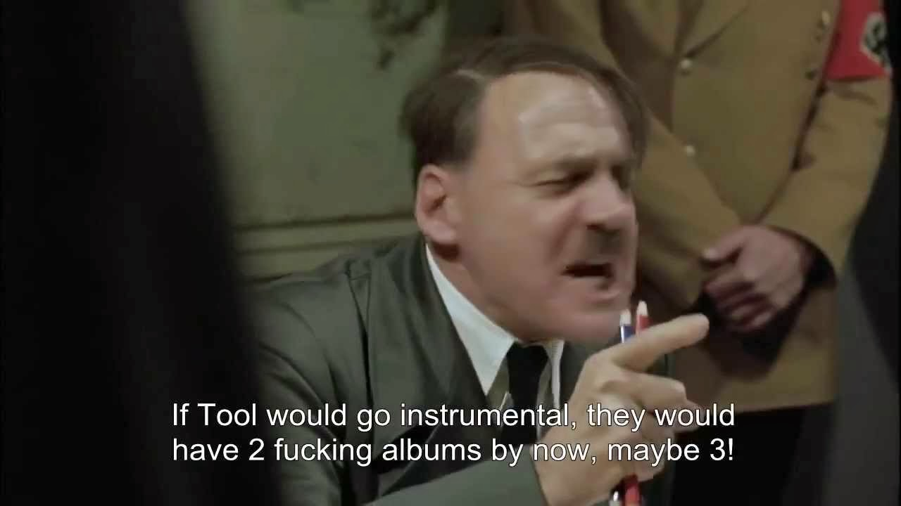 Tool Downfall Adolf Hitler Maynard James Keenan Adam Jones Justin Chancellor Danny Carey Bruno Ganz
