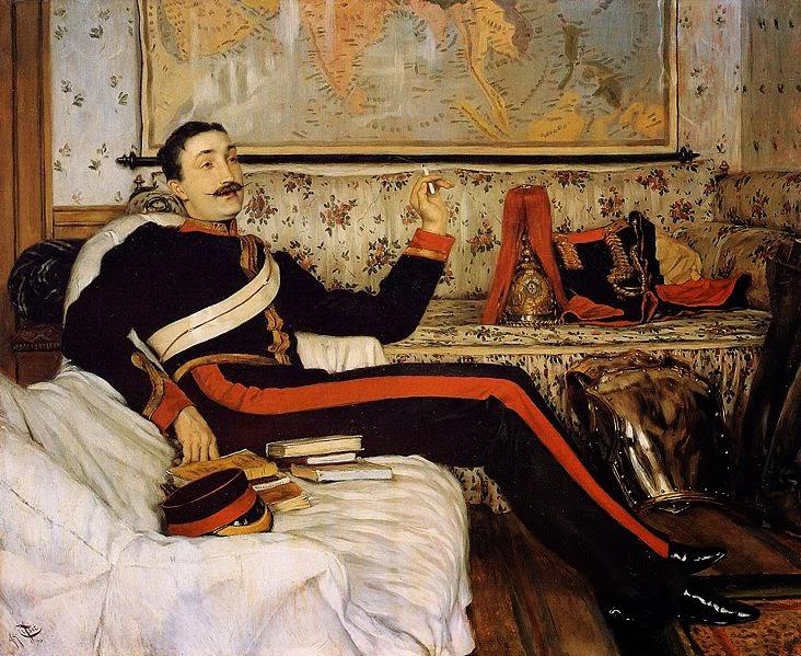 Capitão Frederick Gustavus Burnaby - As principais pinturas de James Tissot ~ Francês