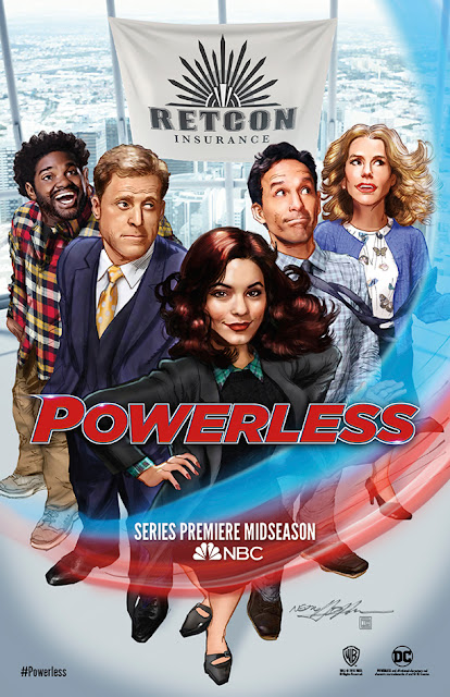 San Diego Comic-Con 2016 Exclusive DC Comics' Powerless Teaser TV Poster by Neal Adams