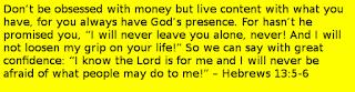 Hebrews 13:5-6 bible verses