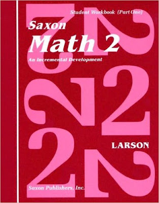 Saxon Math 2, part of homeschool math curriculum choices for first or second grade
