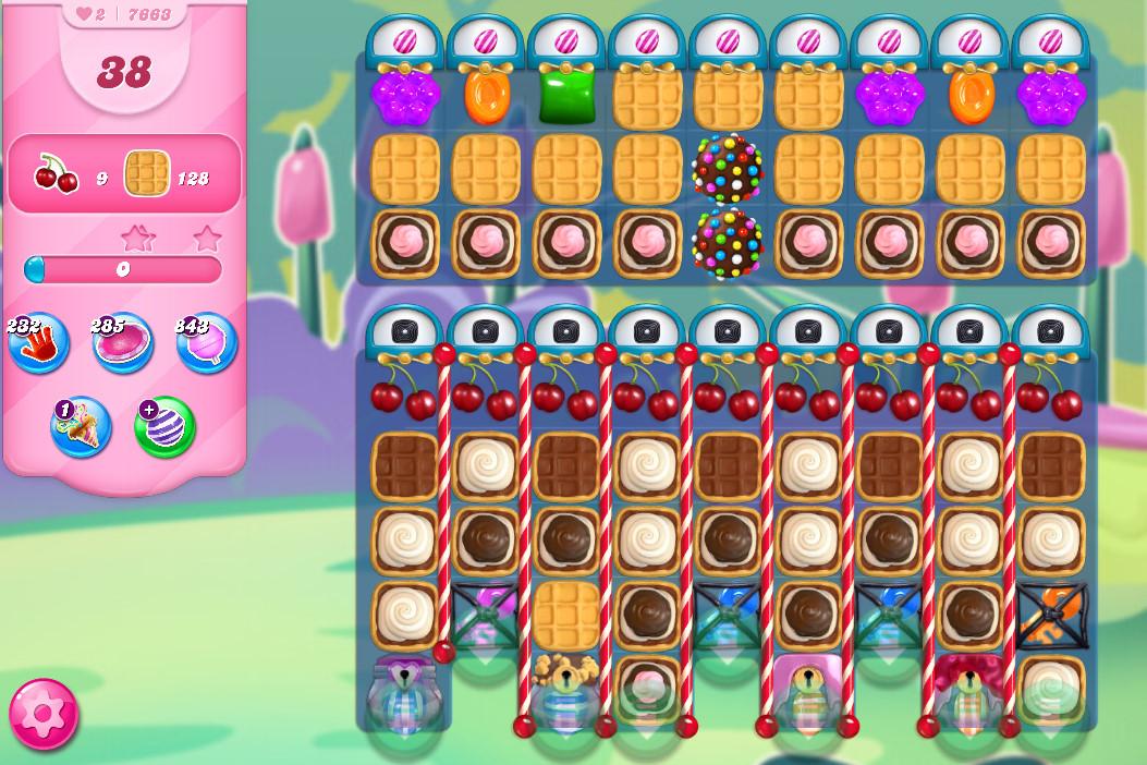 Candy Crush Saga level 7663