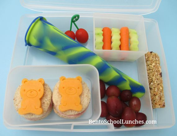 Bears bento lunch. GreenPaxx Slim Snack Reusable Snack Packs Review