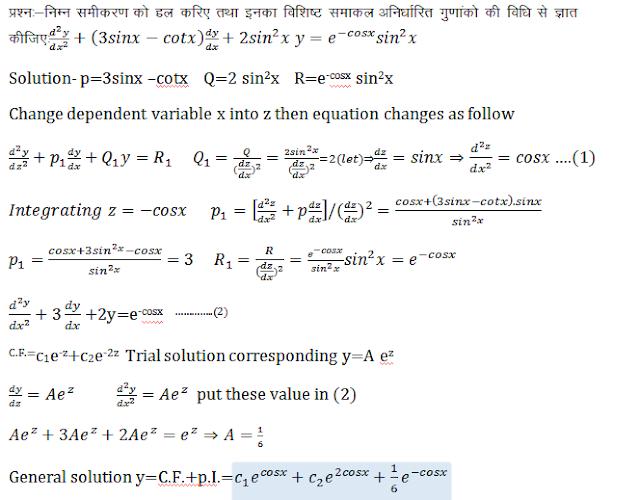 undetermined coefficients method