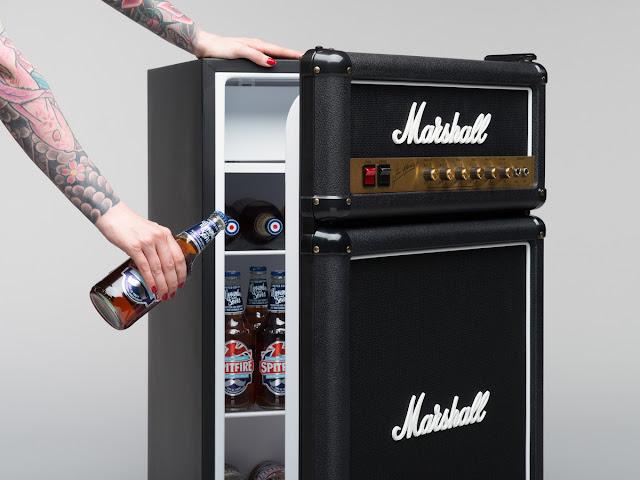 Der Marshall Mini Kühlschrank | Sich im Office wie ein Rockstar fühlen