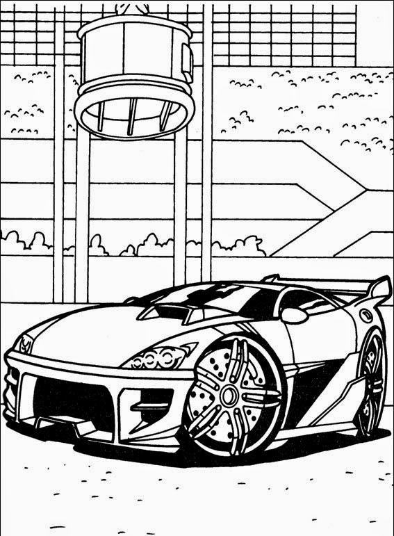 Carros da Hot Wheels para colorir