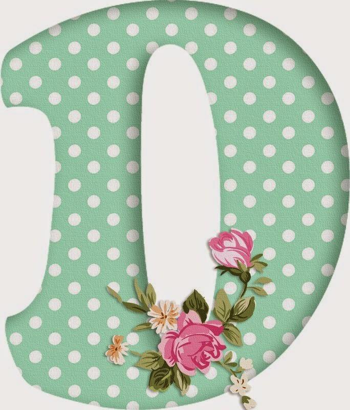 Professora michelle letras coloridas com flores - Letras grandes decoradas ...
