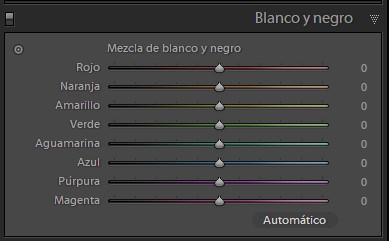 panel 'Blanco y negro'