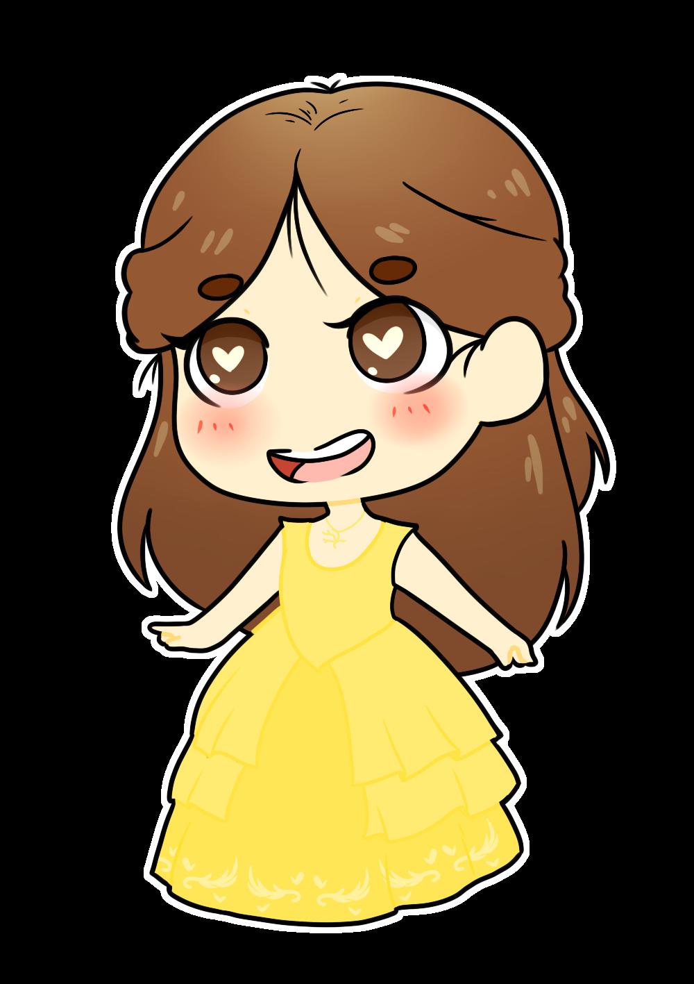princess belle chibi công chúa người đẹp và quái vật 1