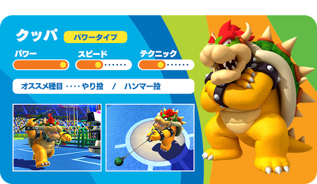 Mario & Sonic at the Rio 2016 Olympic Games Arcade Bowser Koopa javelin throw golf Sega