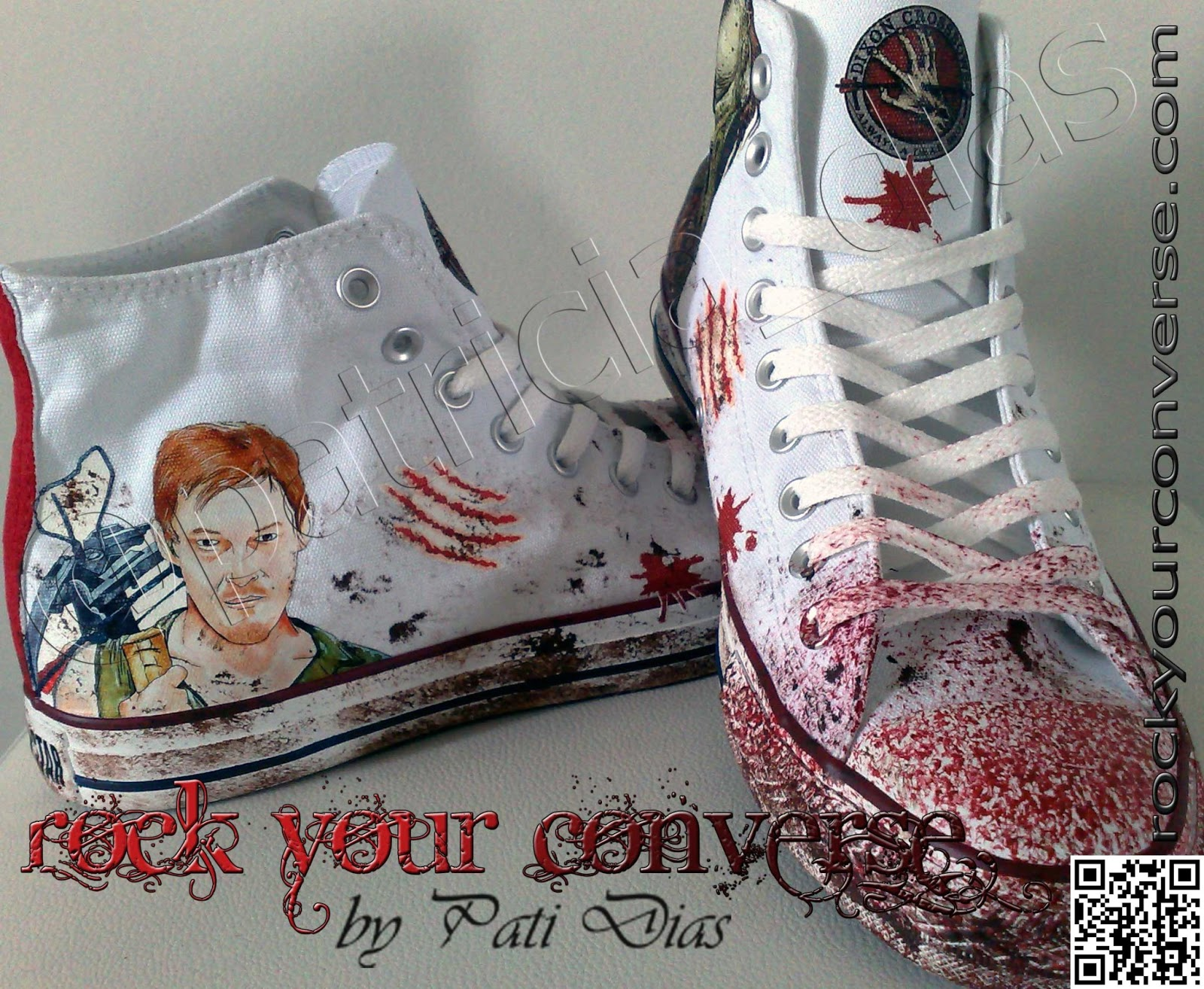 Converse All Star Customizado Rock Your Converse The Walking