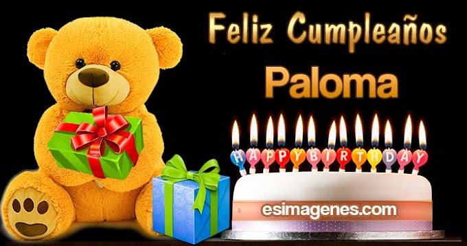 Feliz cumpleaños Paloma