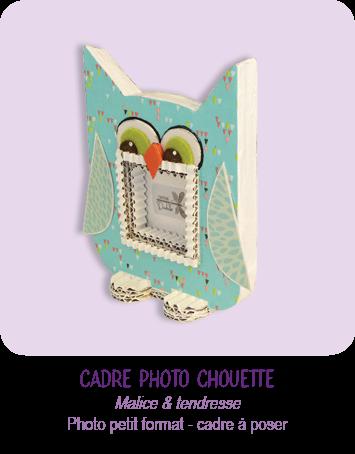 cadre photo chouette en carton a poser en carton- cadeau naissance enfant - par Cartons Dudulle