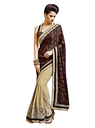 Bahubali Cotton Brasso And Georgette Saree