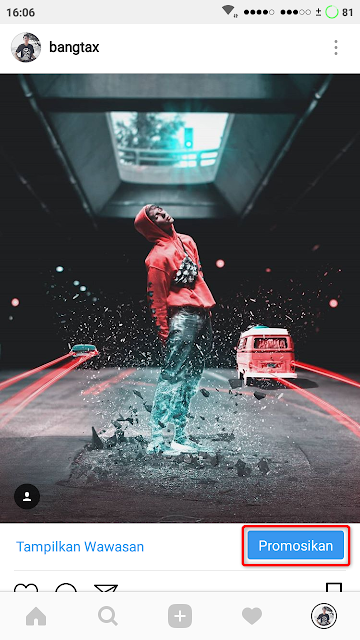 Tutorial Cara Promosi Postingan Instagram