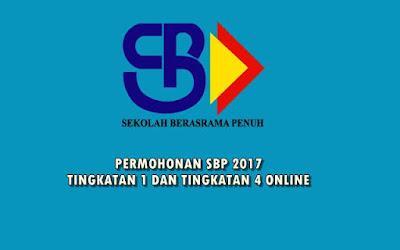 permohonan SBP 2017 tingkatan 1 dan tingkatan 4