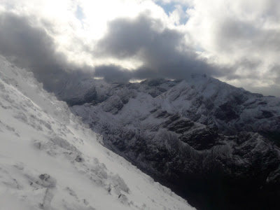 Skye cuillin in winter