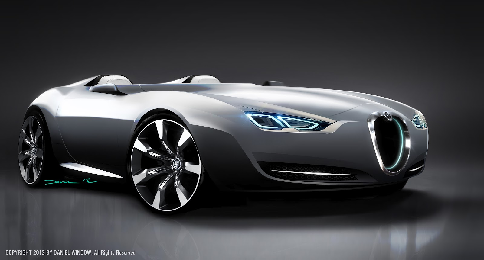 dan window vehicle design  jaguar roadster concept