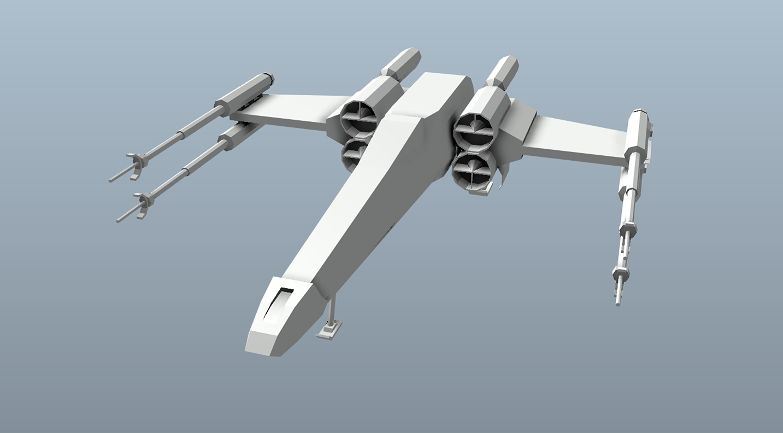 Big Star Wars OBJ Giveaway - X-wing 3d model