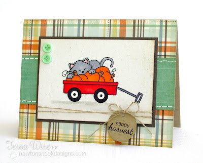 Inky Paws #02 Wagon Card by Tessa Wise