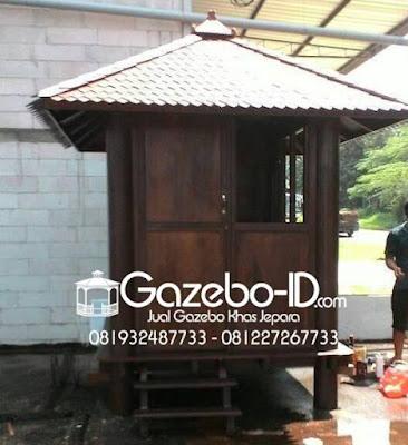 Gazebo Glugu Minimalis Pos Satpam