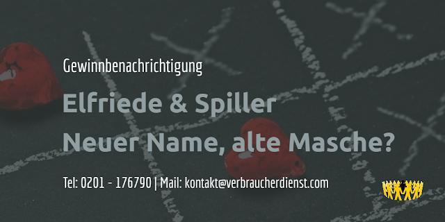 Titelbild: Elfriede & Spiller  Neuer Name, alte Masche