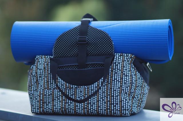 Sporttasche Yogini von Frau Scheiner, Yogatasche, Stoffe Pepelinchen, Reisetasche