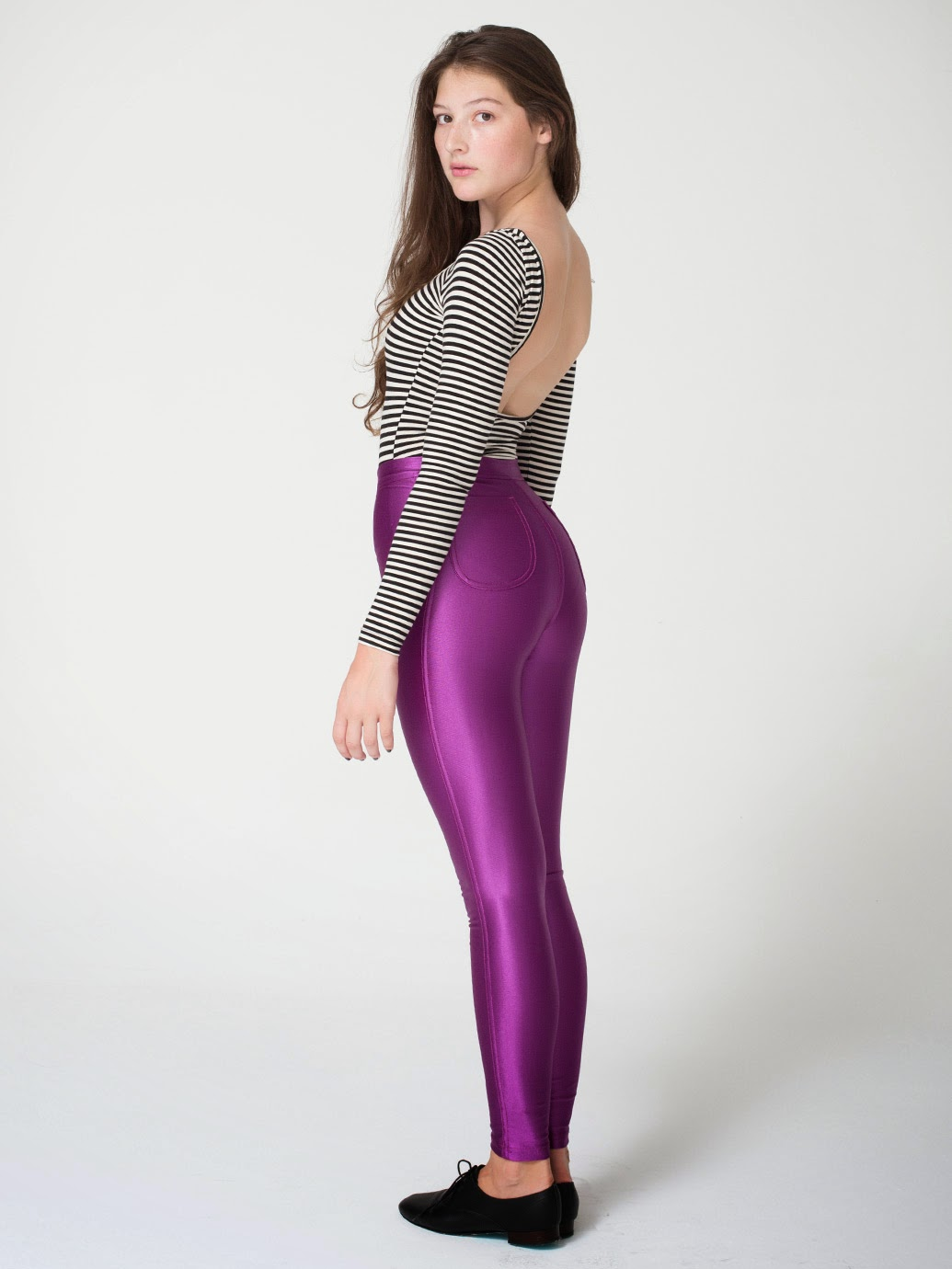 Fabulous Shiny Spandex Leggings For Girls  Fashionate Trends-3293