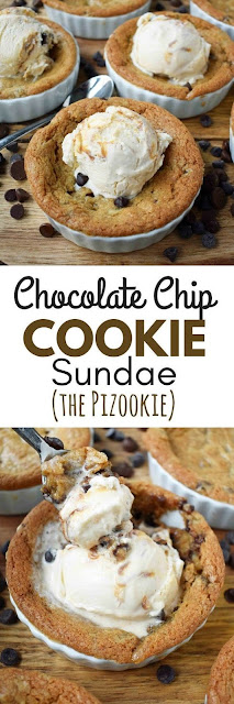 Mini Individual Chocolate Chip Cookie Sundae (Pizookie)
